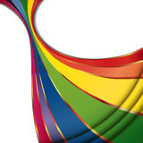 Rainbow refreshing abstract wave. Illustration for your design Royalty Free Stock Photography