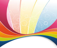 Rainbow refreshment - abstract background Stock Image