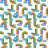Rainbow repetition Royalty Free Stock Images