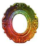 Rainbow Retro Picture Frame Stock Images