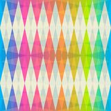 Rainbow rhombus seamless pattern Stock Images