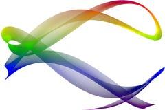 Rainbow ribbon Royalty Free Stock Photography