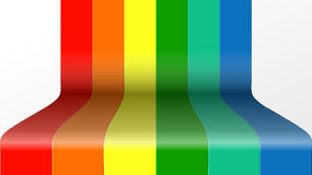 Rainbow ribbon Stock Images