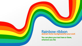 Rainbow ribbon Royalty Free Stock Image