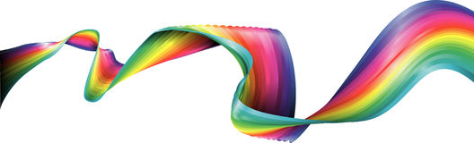 Rainbow Ribbon Stock Image