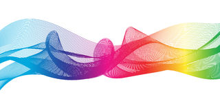 Rainbow ribbon Stock Photos