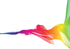 Rainbow ribbon abstract shapes on white background Royalty Free Stock Image