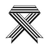 Rainbow ribbon black simple icon Royalty Free Stock Images