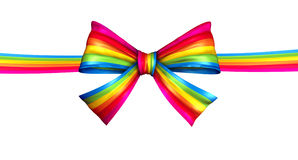 Rainbow Ribbon Bow Stock Image