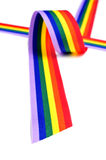 Rainbow ribbon Royalty Free Stock Images