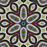 Rainbow ribbon snowflake star Stock Images