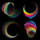 Rainbow ribbons Royalty Free Stock Photography