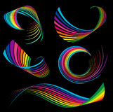 Rainbow ribbons Royalty Free Stock Photos