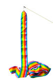 Rainbow ribbons with Gymnastics Handle | Sport object photo | isolate Royalty Free Stock Photography