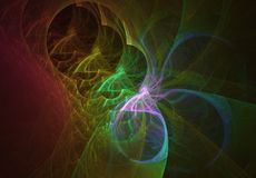 Rainbow ribbons tunnel abstract background. Rainbow ribbon tunnel abstract background Stock Photo