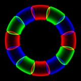 Rainbow ring generated texture Stock Images