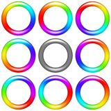 Rainbow ring, set Stock Images