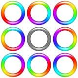 Rainbow Ring, Set Stock Images