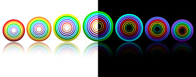 Rainbow rings for your design Royalty Free Stock Images