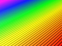 Rainbow ripple Stock Images