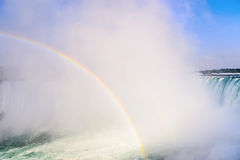 Rainbow Rises from Niagara Falls Royalty Free Stock Image