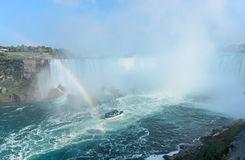 Rainbow Rises from Niagara Falls Stock Image