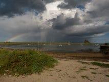 A rainbow rising Royalty Free Stock Photography
