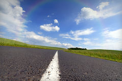 Rainbow road Royalty Free Stock Images