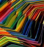 Multicolor paper background. Origami paper bases in rainbow colors Royalty Free Stock Image
