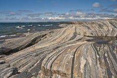 Rainbow Rocks. An island in the 30,000 islands area of Georgian Bay, Lake Huron,Ontario, Canada Stock Photography