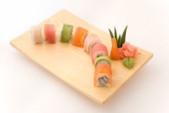 Rainbow roll Stock Photo