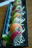 Rainbow roll Royalty Free Stock Photo