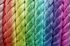 Rainbow roll of rope Stock Photography