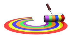 Rainbow roller royalty free stock photos