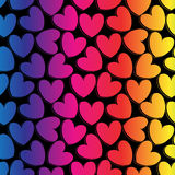 Rainbow romantic background with hearts Royalty Free Stock Image