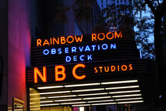 Rainbow Room. The rainbow room, home to NBC studios, at rockefeller center in New York City Stock Images