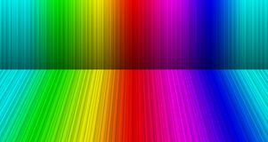 Rainbow room background Stock Photo