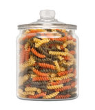 Rainbow Rotini Pasta in a Apothecary Jar Stock Image