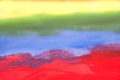 Rainbow roughly painted with acrylic Royalty Free Stock Images