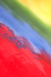 Rainbow roughly painted with acrylic Royalty Free Stock Image