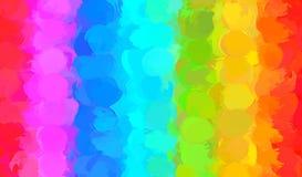 Rainbow round brush strokes background. Vector version Stock Photography