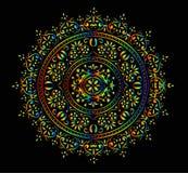 Rainbow round decoration Royalty Free Stock Image