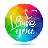 Rainbow round love Stock Photo