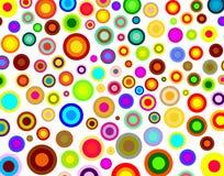 Rainbow rounds background Stock Image
