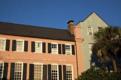 Rainbow Row in Charleston Royalty Free Stock Photo