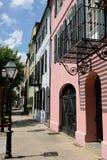 Rainbow Row, Charleston, SC Royalty Free Stock Image