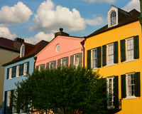 Rainbow Row - Charleston, South Carolina Royalty Free Stock Image