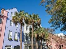 Rainbow Row, Charleston, South Carolina Stock Photos