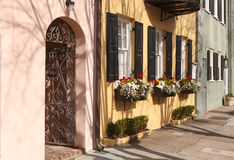 Rainbow Row Charleston South Carolina sc Royalty Free Stock Photos