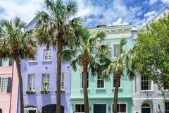 Free Rainbow Row In Charleston Stock Images - 118169724